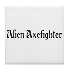 Alien Axefighter Tile Coaster