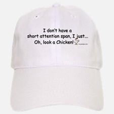 Short Attention Span Chicken Baseball Baseball Cap