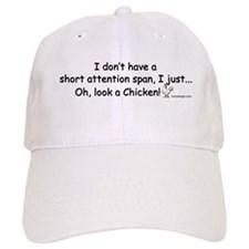 Short Attention Span Chicken Baseball Cap