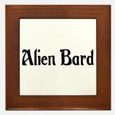 Alien Bard Framed Tile