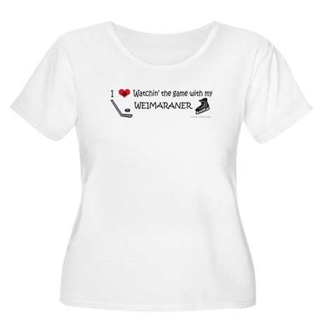 weimaraner Women's Plus Size Scoop Neck T-Shirt