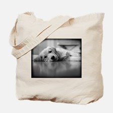 Pooped Golden Retriever Puppy Tote Bag