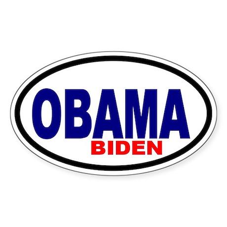 Obama-Biden '08 Oval Sticker