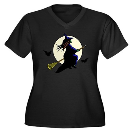 Lax-o-ween Women's Plus Size V-Neck Dark T-Shirt
