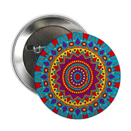 "Living Turquoise Magic Circle 2.25"" Button (10 pac"