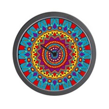 Living Turquoise Magic Circle Wall Clock
