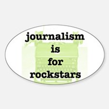 Journo Rock Oval Decal