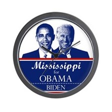 Mississippi for Obama Wall Clock