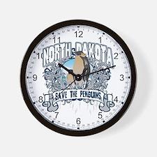Save the Penguin North Dakota Wall Clock