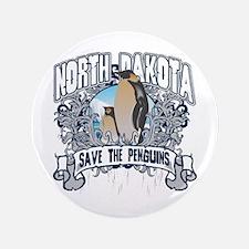 "Save the Penguin North Dakota 3.5"" Button"