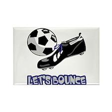 Let's Bounce Soccer Ball Design Rectangle Magnet