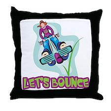 Let's Bounce Pogo Stick Throw Pillow