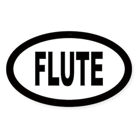 Flute Oval Sticker