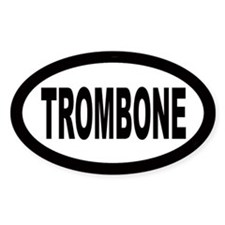 Trombone Oval Decal
