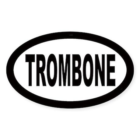 Trombone Oval Sticker