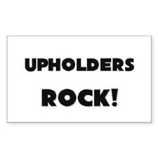 Upholders ROCK Rectangle Decal