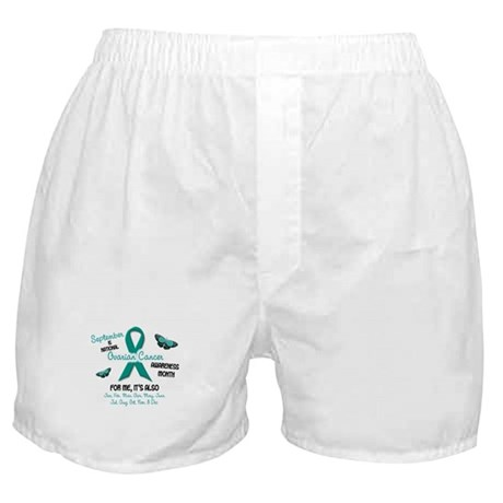 Ovarian Cancer Awareness Month 2.1 Boxer Shorts