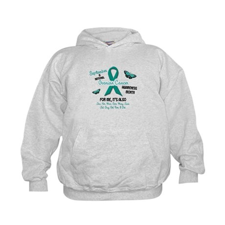 Ovarian Cancer Awareness Month 2.1 Kids Hoodie