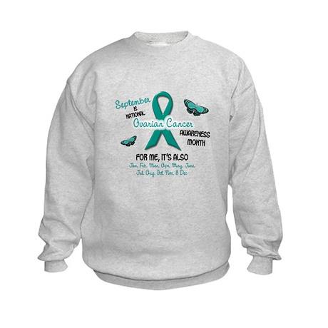 Ovarian Cancer Awareness Month 2.1 Kids Sweatshirt