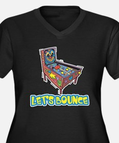 Let's Bounce Pinball Machine Women's Plus Size V-N
