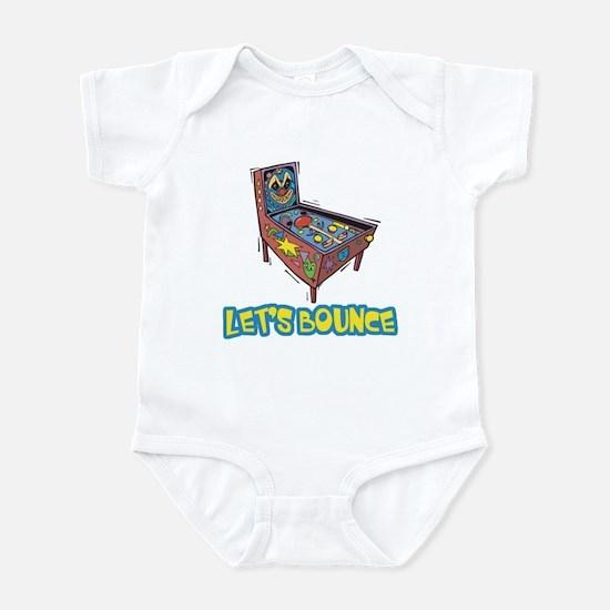 Let's Bounce Pinball Machine Infant Bodysuit