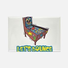 Let's Bounce Pinball Machine Rectangle Magnet