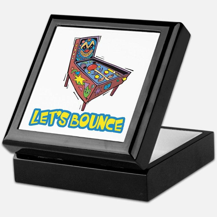 Let's Bounce Pinball Machine Keepsake Box