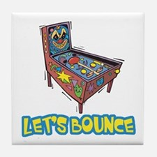 Let's Bounce Pinball Machine Tile Coaster