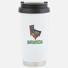 Let's Bounce Pinball Machine Travel Mug