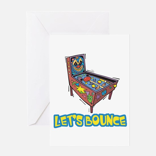 Let's Bounce Pinball Machine Greeting Card
