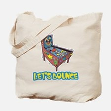 Let's Bounce Pinball Machine Tote Bag