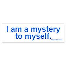 I am a mystery to myself.
