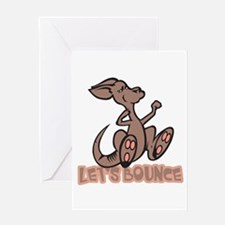 Let's Bounce Kangaroo Greeting Card