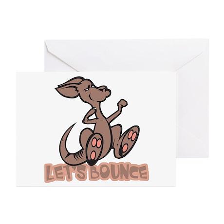 Let's Bounce Kangaroo Greeting Cards (Pk of 10)