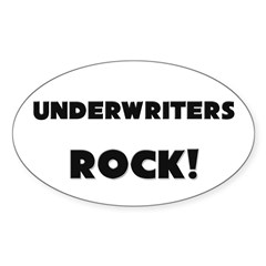 Underwriters ROCK Oval Decal