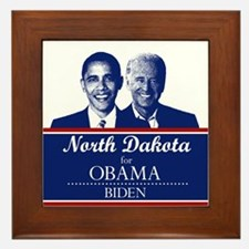 North Dakota for Obama Framed Tile