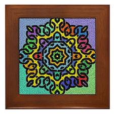 Colorful Celtic Knot Framed Tile