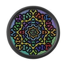 Colorful Celtic Knot Large Wall Clock