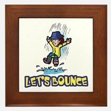 Let's Bounce Jumping in Puddles Framed Tile
