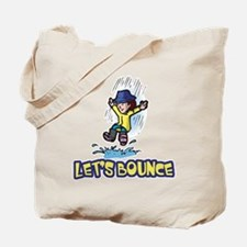 Let's Bounce Jumping in Puddles Tote Bag