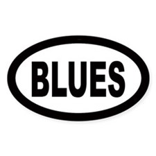 Blues Oval Bumper Stickers