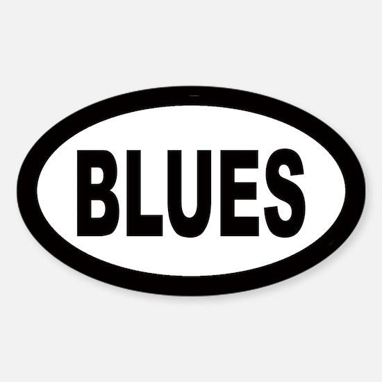 Blues Oval Bumper Stickers