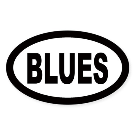 Blues Oval Sticker
