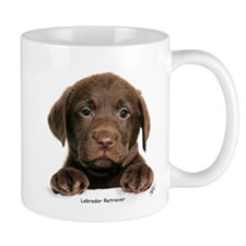 Chocolate Labrador Retriever puppy 9Y270D-050 Small Mug