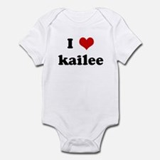 I Love kailee Infant Bodysuit