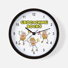Geocaching Rocks Wall Clock