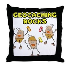 Geocaching Rocks Throw Pillow