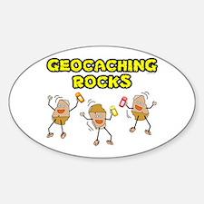 Geocaching Rocks Oval Decal