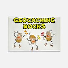 Geocaching Rocks Rectangle Magnet