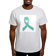 Ovarian Cancer Awareness | Te Ash Grey T-Shirt